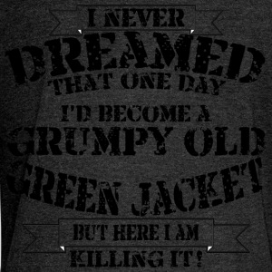 Grumpy Old Green Jacket - Women's Boat Neck Long Sleeve Top