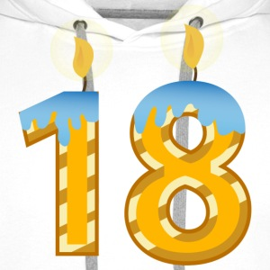18th birthday candles - Men's Premium Hoodie