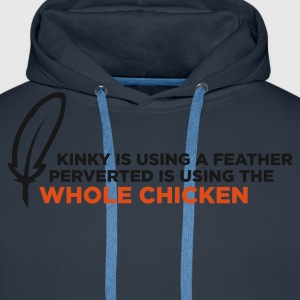 Kinky Feather 1 (ENG, 2c) - Sweat-shirt à capuche Premium pour hommes
