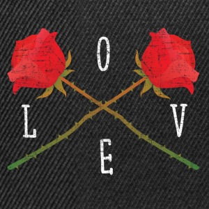 Love | Rose Crossed | Cool Gift Design T-Shirts - Snapback Cap