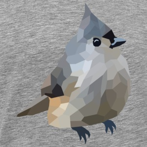 Polygon Art: Tufted Titmouse Sonstige - Männer Premium T-Shirt