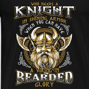 Bearded Glory - Viking Toppar - Premium-T-shirt herr