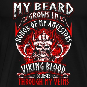 My Beard Honor - Viking - EN Sportkläder - Premium-T-shirt herr