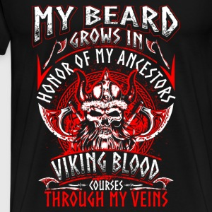 My Beard Honor - Viking - EN Sweatshirts - Herre premium T-shirt