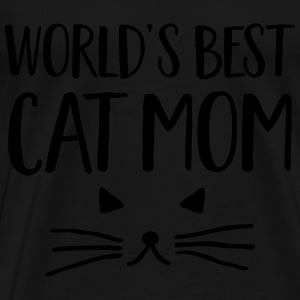 World's Best Cat Mom Hoodies & Sweatshirts - Men's Premium T-Shirt
