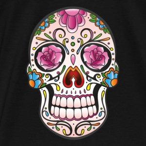 Traditional Mexican sugar skull - Men's Premium T-Shirt