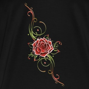 Filigree Tribal with large rose - Men's Premium T-Shirt