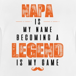 Papa Is My Name Becoming A Legend Is My Game Shirts - Baby T-Shirt