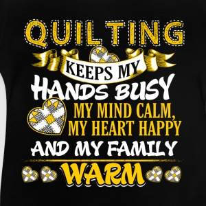 Keeps My Hands Busy - Quilting Langærmede shirts - Baby T-shirt