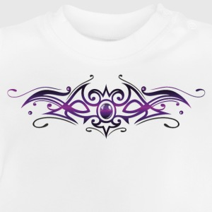 Filigree Tribal with gemstone, purple and black - Baby T-Shirt