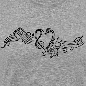 Music sheet with music notes and clef - Men's Premium T-Shirt