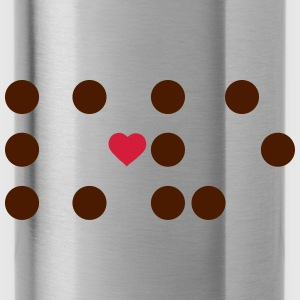Braille - dots and a heart Bags & Backpacks - Water Bottle
