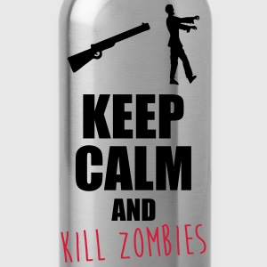 Keep calm zombie,zombies,humour,citations - Gourde