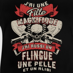 Father - daughter - weapon - scoop - alibi - FR Shirts - Baby T-Shirt