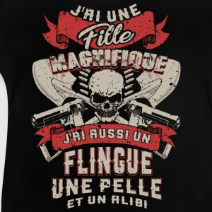 Father - daughter - weapon - scoop - alibi - FR Long Sleeve Shirts - Baby T-Shirt