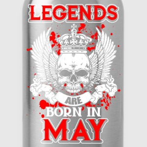 May - legend - birthday - EN T-Shirts - Water Bottle