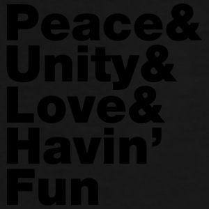 Peace & Unity & Love & Havin' Fun Caps & Hats - Men's Premium T-Shirt