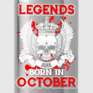 October - legend - birthday - EN Shirts - Water Bottle