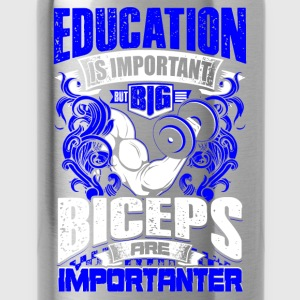 Design: Biceps Are Importanter - blue - Workout - EN Koszulki z długim rękawem - Bidon