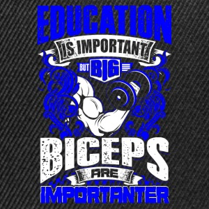 Design: Biceps Are Importanter - blue - Workout - EN Skjorter - Snapback-caps