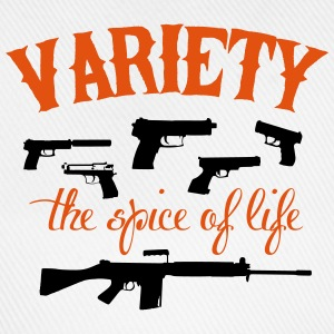guns: variety the spice of life T-shirts - Basebollkeps