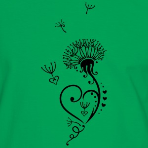 Dandelion with hearts in Tribal-, Tattoo Style. - Men's Ringer Shirt