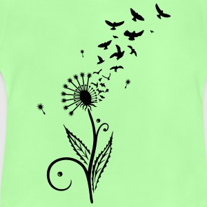 Dandelion with flying birds. - Baby T-Shirt