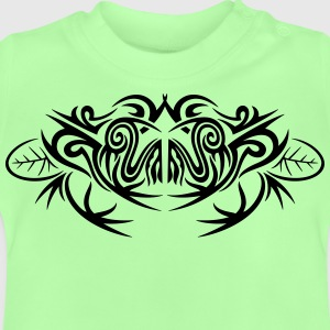 Big frog and leaves, tribal and tattoo design. - Baby T-Shirt
