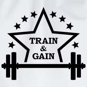 Train + gain Fitness Gym Workout Trening T-skjorter - Gymbag
