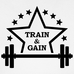Train + gain  Dumbbell Squat Halter Training  T-shirts - Baseballcap