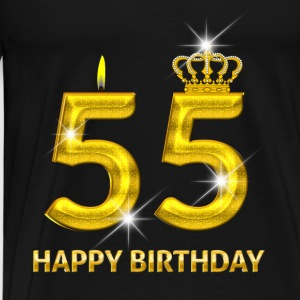 55 - happy birthday - verjaardag - nummer goud Tops - Mannen Premium T-shirt