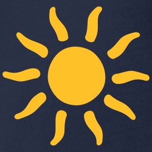 sun sunshine symbols shapes Shirts - Organic Short-sleeved Baby Bodysuit