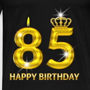 85 - happy birthday - birthday - number gold Baby Long Sleeve Shirts - Men's Premium T-Shirt