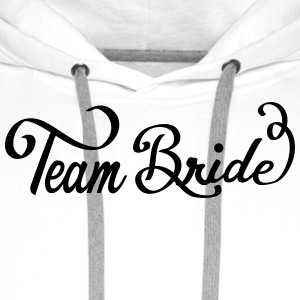 team_bride_swing_2 Buttons - Mannen Premium hoodie