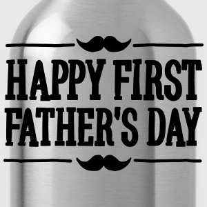 Happy 1st  ( first ) father's day  T-Shirts - Water Bottle