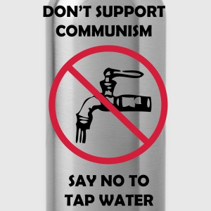 Svart Say NO to tapwater! T-shirts - Vattenflaska