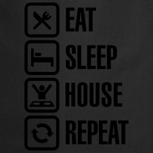 Eat Sleep House Repeat T-shirts - Forklæde