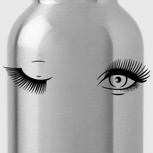Mascara Blinking Eyes T-Shirts - Water Bottle
