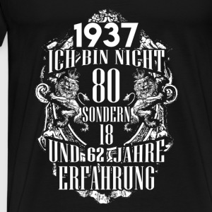 1937-80 years of experience - 2017 - DE Tops - Men's Premium T-Shirt