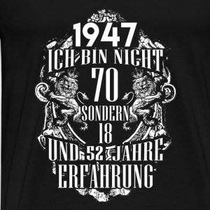 1947-70 years experience - 2017 - DE Tops - Men's Premium T-Shirt