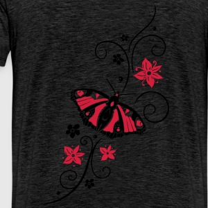 Big colorful butterfly with filigree tribal. - Men's Premium T-Shirt