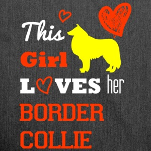 This Girl Loves - Border Collie - Schultertasche aus Recycling-Material