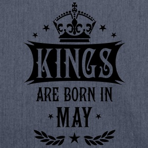 Kings are born in May Krone King Star T-Shirt - Schultertasche aus Recycling-Material