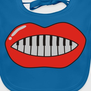 Royalblau piano_mouth_3C Kinder T-Shirts - Baby Bio-Lätzchen