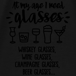 At my age I need glasses... Sweatshirts - Herre premium T-shirt