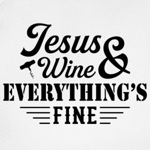 Jesus Wine & Everythings Fine T-Shirts - Baseball Cap