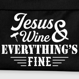 Jesus Wine & Everythings Fine T-Shirts - Kids' Backpack