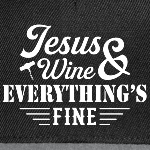 Jesus Wine & Everythings Fine T-Shirts - Snapback Cap