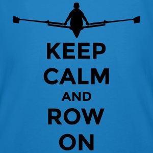 keep calm and row on rudern Verein rowing Boot Tasker & rygsække - Organic mænd