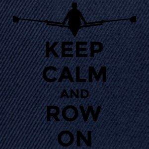 keep calm and row on rudern Verein rowing Boot Borse & Zaini - Snapback Cap